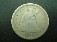 1875 S SEATED LIBERTY TWENTY CENT PIECE 20C SILVER COIN