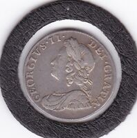 1740   KING  GEORGE  II   THREEPENCE   3D   SILVER  92.5   COIN