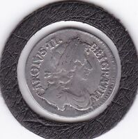 1679  KING  CHARLES  II  THREEPENCE   3D   SILVER  92.5   COIN