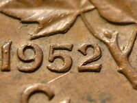 1952 CENT DOUBLED 52 ZOELL R76H GOOD CONDITION WITH MINOR DIE CLASH