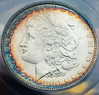 1880 P MINT STATE 62 MORGAN SILVER DOLLAR OLD HOLDER.