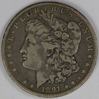 1891-O MORGAN DOLLAR, CIRCULATED LFRAW0412/UN