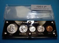 1951 70TH SILVER BIRTH YEAR SET OF U.S. COINS LOOKS FULLY UN