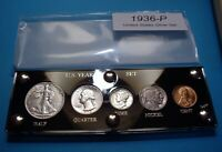 1936 SILVER SET OF U.S. COINS NICE NEAR MINT TO MINT UNCIRCU