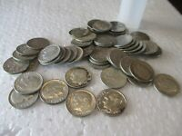 1 ROLL  50  ROOSEVELT DIMES 1946 1964 90  SILVER