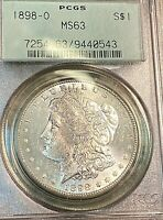 1898-O MORGAN DOLLAR MINT STATE 63 OGH LOOKS PL BEST PRICE ON EBAY CHN