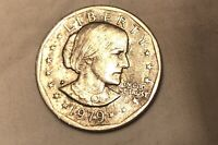 1979 P SUSAN B ANTHONY DOLLAR WIDE RIM / NEAR DATE  1 RARE F