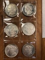 MORGAN SILVER DOLLARS 1878 S LOT OF 6  BEAUTIFUL COINS
