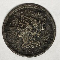 1855 BRAIDED HAIR HALF CENT C 1 MINTAGE: 56 500