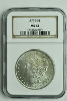 1879 S - MORGAN SILVER DOLLAR - NGC MINT STATE 64