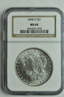 1898 O MORGAN DOLLAR - NGC MINT STATE 64