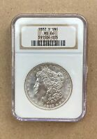 1882-S MORGAN DOLLAR NGC MINT STATE 66 -   COIN