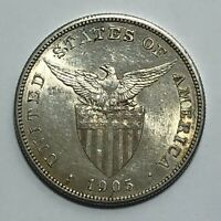 1905 S SILVER ONE PESO PHILIPPINES US ADMINISTRATION   ABOUT