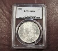 1883 MORGAN DOLLAR MINT STATE 64 PCGS  BETTER