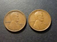 PAIR OF US LINCOLN SMALL CENTS 1915D & 1931D FROM CANADIAN COLLECTION
