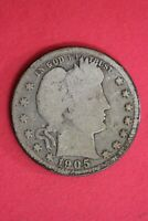 1905 S BARBER LIBERTY QUARTER EXACT COIN SHOWN SILVER COMBINED SHIPPING OCE 24