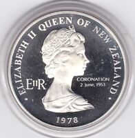 VERY  SHARP   NEW  ZEALAND  1978   PROOF   CROWN      SILVER