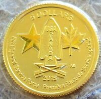 2015 GOLD CANADA 1/10 OZ $5 SPECIAL FORCE COIN MINT STATE CO