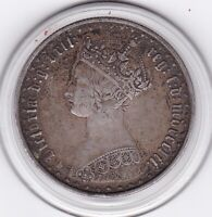 SHARP   1852    QUEEN  VICTORIA  'GOTHIC'  FLORIN   2/    SI
