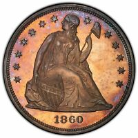 1860 $1 LIBERTY SEATED DOLLAR - PCGS&CAC  PR64 SUPERB SURFACES