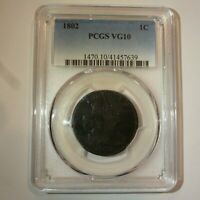 1802 US LARGE CENT PCGS VG10 COIN
