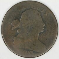 1803 DRAPED BUST LARGE CENT. SMALL DATE SMALL FRACTION. RAW4356/SN