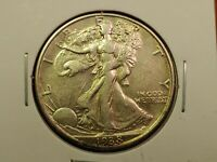 1938-D WALKING LIBERTY SILVER HALF DOLLAR 50C EXTRA FINE /AU POSSIBLE OLD CLEANING