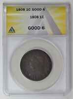 LARGE CENTS CLASSIC HEAD 1808  ANACS G-6