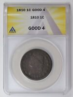 LARGE CENTS CLASSIC HEAD 1810  ANACS G-4