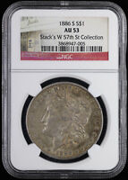 1886 S $1 MORGAN SILVER DOLLAR NGC AU 53 | STACKS W 57TH ST COLLECTION