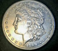 1889-S  MORGAN SILVER DOLLAR BRIGHT WHITE UNCIRCULATED FROM AN ESTATE