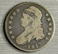 1817 CAPPED BUST HALF DOLLAR 99 CENT AUCTION YOU GRADE
