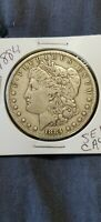 1884  MORGAN SILVER DOLLAR 'LY WORN'