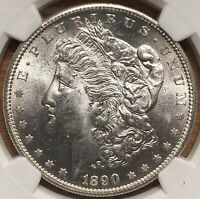 1890-S MORGAN SILVER DOLLAR NGC MINT STATE 64