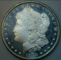 1879 S RAW BU DMPL MORGAN SILVER DOLLAR  /CAMEO/  KEY DATE. 752