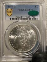 1879-S MORGAN SILVER DOLLAR $1 PCGS MINT STATE 67 CAC- BLAST WHITE BEAUTY -