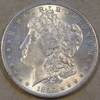 1890-S MORGAN DOLLAR AU