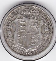 1923   KING  GEORGE  V  HALF  CROWN   2/6D     SILVER  COIN