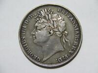 GREAT BRITAIN 1821 CROWN KING GEORGE LOW GRADE SILVER WORLD