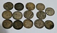COLLECTION OF GREAT BRITISH SILVER THREEPENCE 3D COINS