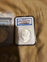 MORGAN SILVER DOLLAR ALMOST UNCIRCULATED 1885 BEAUTIFUL AND STUNNING