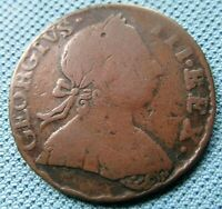 1775 KING GEORGE III BRITISH AMERICA COLONIAL NON REGAL HALF