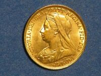GREAT BRITAIN 1896 1/2 SOVEREIGN GOLD UNC