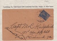 US STAMP CONFEDERATE STATE FAKE STAMPS CANCEL COVER  COLLECT