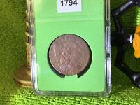 1794 LIBERTY CAP LARGE CENT HEAD OF 1794 IN BCW SLAB