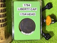 1794 LIBERTY CAP LARGE CENT HEAD OF 1794 IN BCW SLAB 4
