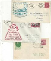 UNITED STATES 1929   1931 FDC COVERS PRINTED CACHETS
