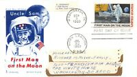 APOLLO 11 FDC FIRST MOON LANDING 10C STAMP JACKSON COVER UNC