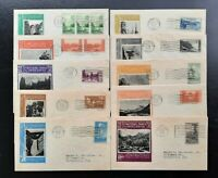 US FDC 1934 NATIONAL PARKS SET OF 10 740 749 IOOR CACHET FIR