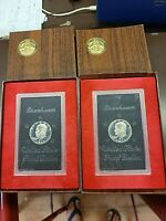 LOT OF 2   EISENHOWER US PROOF COIN DOLLARS  UNCIRCULATED    1971 WE SHIP